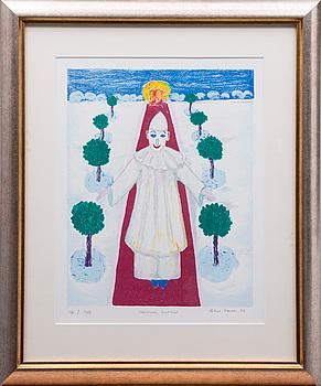 ALICE KAIRA, litografi, signerad, daterad 94 och numrerad 116/140.
