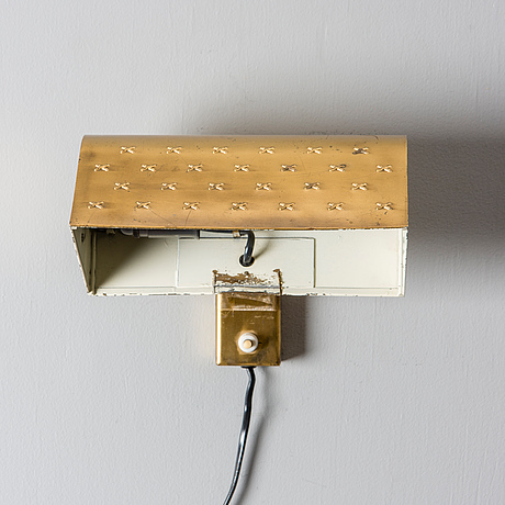 Lisa johansson pape,wall lamp. stamped orno. 1950s