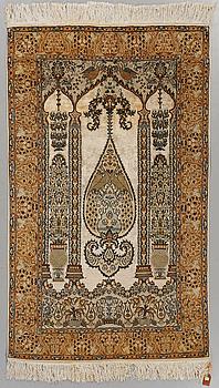 MATTA, Kashmir, part silk, old, 120 x 185 cm.