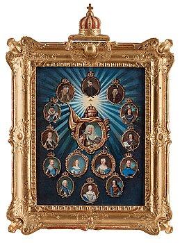 1124. Niclas Lafrensen d.ä., Regentlängd, kung Gustav Vasa - kung Fredrik I.