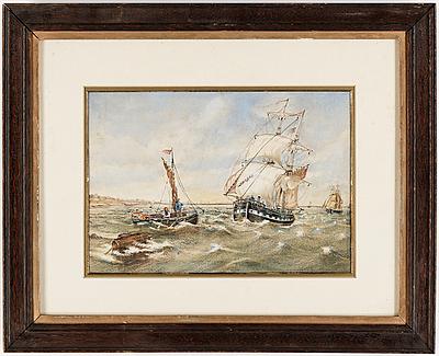 OKÄND KONSTNÄR, akvarell. Sannolikt omkring 1900.