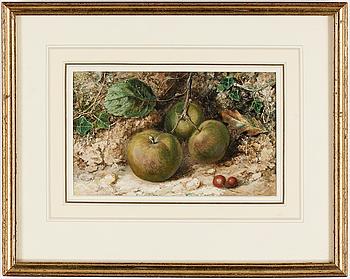 WILLIAM HENRY HUNT, akvarell, signerad.