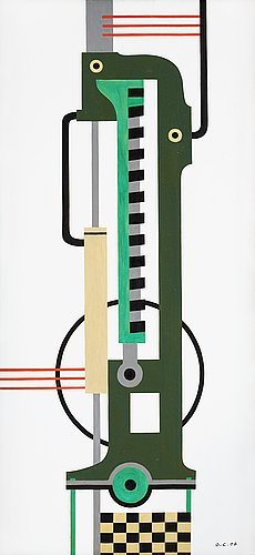 Otto g carlsund, the second machine (the green machine).