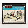 Star wars, rebel snowspeeder i svensksåld kartong, return of the jedi, 1983