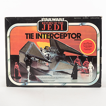 STAR WARS, Tie Interceptor i svensksåld kartong, Return of the Jedi, 1983.