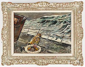 CHRISTIAN KROHG His studio, CHRISTIAN KROHG, his studio, oil on relined canvas, signed/bears signature C Krohg.