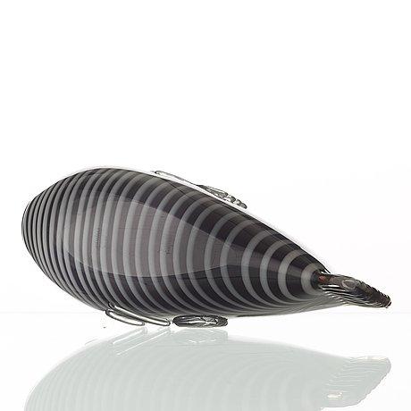 Tyra lundgren, a glass sculpture of a 'fenicio' fish, venini, murano, italy ca 1938.
