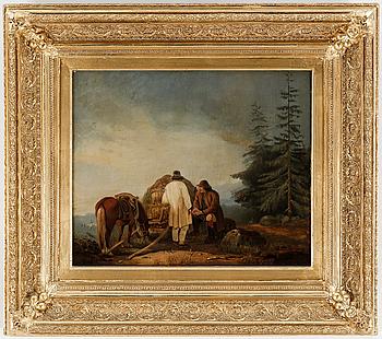 JOSEF WILHELM WALLANDER. Olja på duk. Otydligt signerad, daterad 1873 a tego.