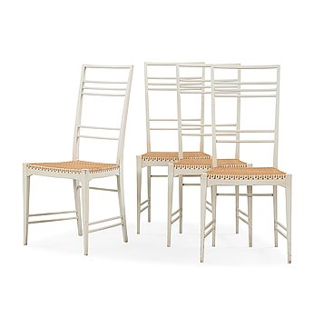 508. Erik Chambert, a set of four 'Poem' chairs, Chambert's, Sweden, probably 1950's.