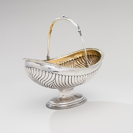 BrÖdkorg, silver, st.petersburg 1827, carl gustaf savary