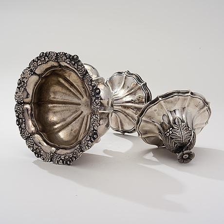 SockerskÅl, silver, olof robert lundgren, Åbo 1858