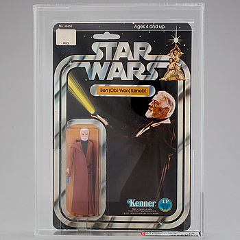 STAR WARS, Obi-Wan Kenobi 12 back-C AFA70 EX+, Kenner 1978.