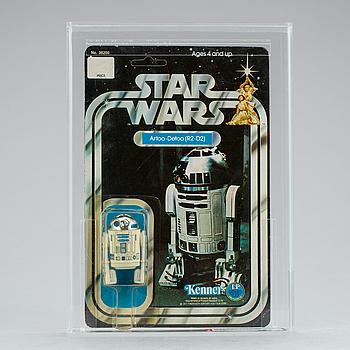 STAR WARS, R2-D2 12 back-B AFA75 Y-EX+/NM, Kenner 1978.