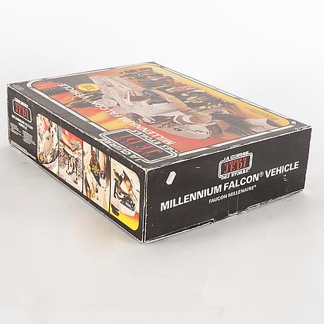 Star wars, millennium falcon i kartong, return of the jedi, 1983