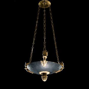 AMPEL, brons, empire, 1800-talets början. Höjd 66 cm.