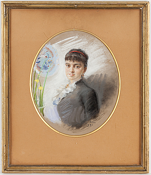 CARL LARSSON, pastell, signerad CL och daterad 1881.