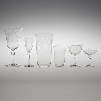 GLASSERVIS, 61 delar, 1930-tal.