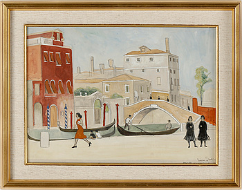 EINAR JOLIN, akvarell, signerad, daterad Venedig juni 1931.