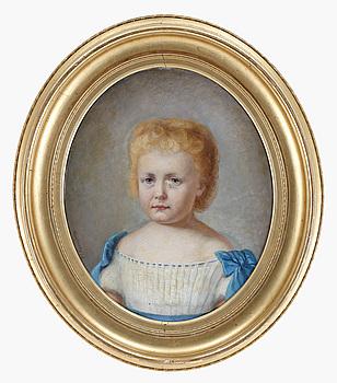 MARIE HELENE AARESTRUP, olja på duk, signerad, daterad Snogeholm 1869.