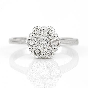 RING, med briljantslipade diamanter, totalt ca 1,00 ct.