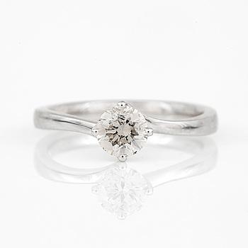 RING, med briljantslipad diamant, ca 0,60 ct.