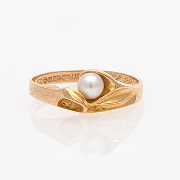 RING, Lapponia, odlad pärla, 14K guld.
