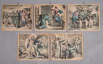 SKOLPLANSCHER, 5 kpl, 1900-talets första hälft, Verlag von Georg Wigand Leipzig, Reprod. von Rommler & Jonas, Dresden.