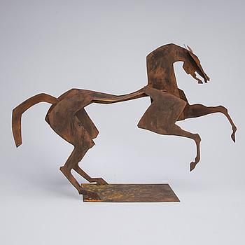 JEAN-LOUIS SAUVAT, skulptur, rostmetall, signerad.