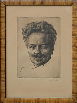 WERNER E. A. HOFFMANN, etsning, signerad.
