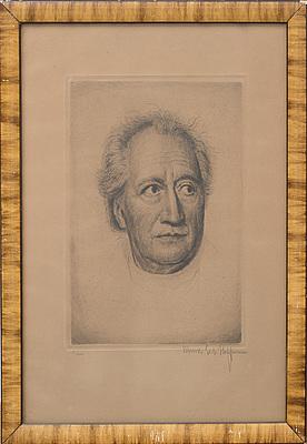 WERNER E. A. HOFFMANN, etsning, signerad och numrerad 2/200.