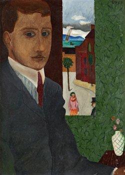 """12. Erik Olson, """"Genom fönstret"""" (Självporträtt)."""