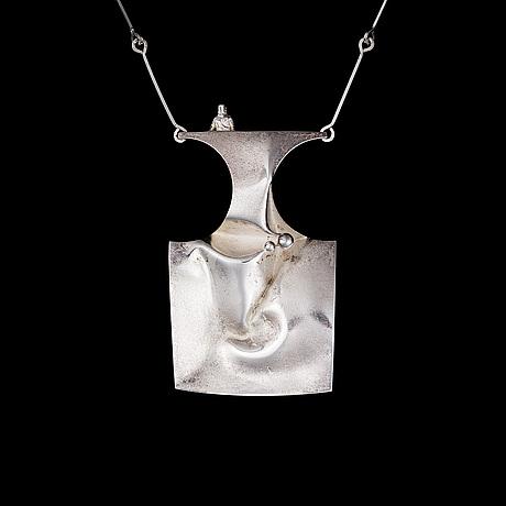 BjÖrn weckstrÖm, a necklace barbarella, sterling silver, lapponia 1972