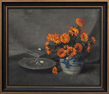 ULDERCIO GIOVACCHINI, oljemålning på duk, signerad.