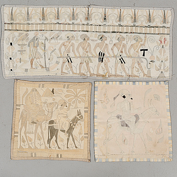 VÄVNADER, 3 st, kelim, Nordafrika, semiantika,