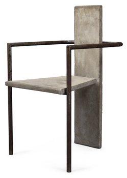 820. A Jonas Bohlin ´Concrete´ armchair, for Källemo, Värnamo 1981.