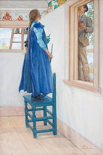 """Carl larsson, """"suzanne och en ann' """"."""