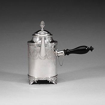 409A. A Swedish 18th century silver coffee-pot, Petter Åkerman, Stockholm 1780.