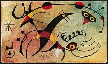 """274. Joan Miró """"Le resume calcule avec l'oiseau"""""""