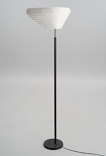 Alvar aalto, a floor lamp, a 805. angel's wing. stamped valaistustyö. designed in 1954