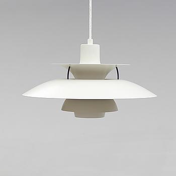 "TAKLAMPA, ""PH 5"", Poul Henningsen, Louis Poulsen, Danmark, 1900-talets andra hälft. Höjd ca 30 cm."