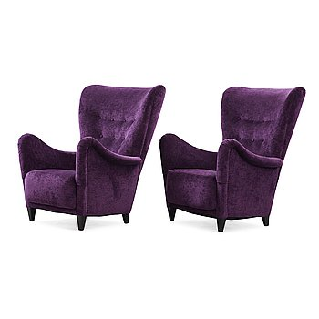 501. Otto Schulz, a pair of armchairs by Boet, Sweden 1940's.