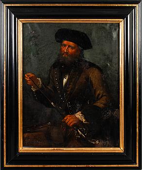 1018. DAVID KLÖCKER EHRENSTRAHL, hans ateljé, olja på duk, ej signerad.
