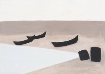 "143. Axel Kargel ""Båtar på stranden"" (Grömvik, Djupvik Öland)"
