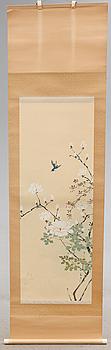 RULLMÅLNINGAR, 2 st, siden, Japan, 1900-tal.