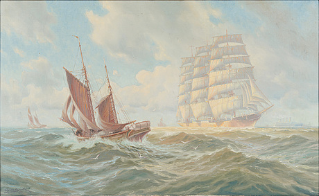 Adolf bock. laivoja englannin kanaalissa