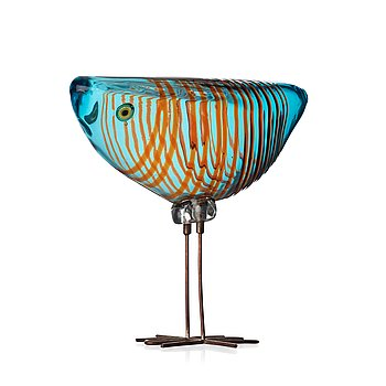 135. Alessandro Pianon, a 'Pulcino' glass bird, Vistosi, Italy 1960's.