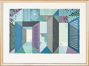 SVEN JONSON, färglitografi, signerad och numrerad 141/310.