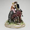 Figurin, porslin, meissen ca 1900.