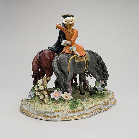 Figurin, porslin, meissen ca 1900