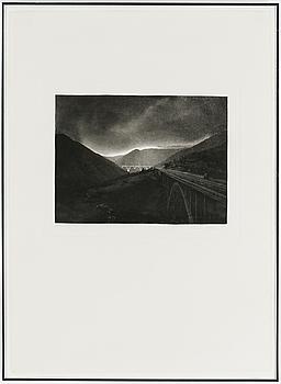 LENNART OLSON, LENNART OLSON, fotogravyr, signerad Lennart Olsson, numrerad 6/75 och daterad 1982.
